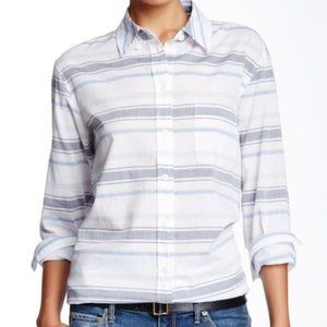 Equipment Femme Margaux Stripe Cotton Button Shirt